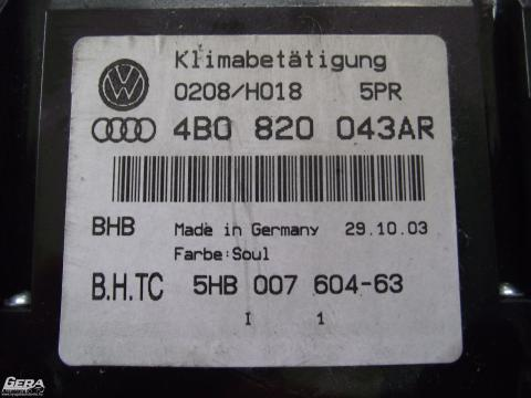 Audi A6 C5 '2003' digit klímavezérlő!