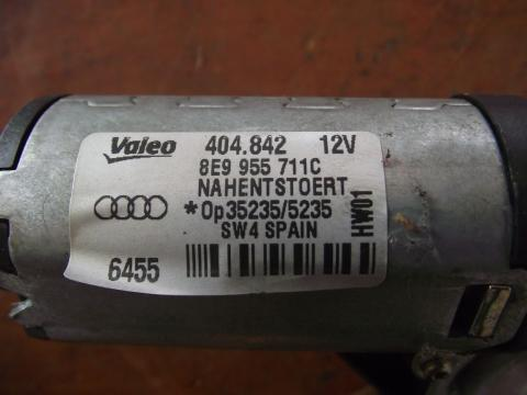 Audi A4 B7, A3 8P hátsó ablaktörlő motor!