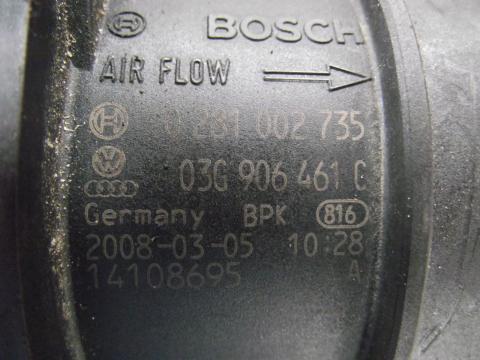 Audi A4 B8 8K '2008' 2.0 CR TDi légtömegmérő!