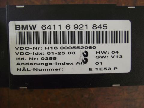 BMW E46 fűtéskonzol! Klímás!