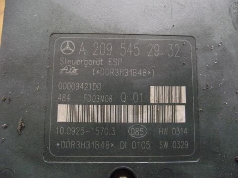Mercedes W203 C200 CDi ABS, ESP hidraulika egység!