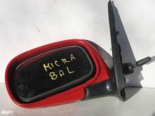 Nissan Micra külső visszapillantó tükör! Piros, bal oldali, kézi...